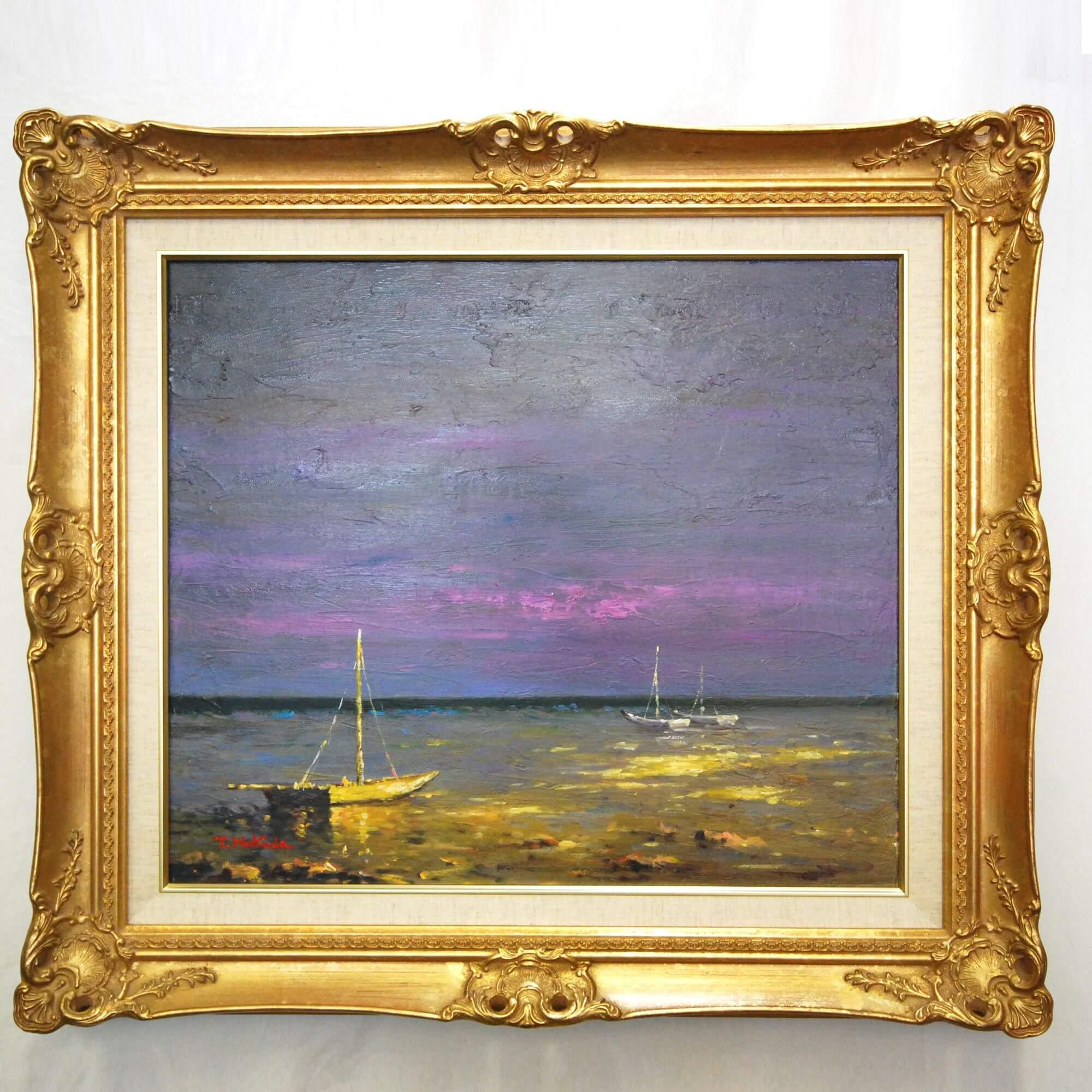 絵画: 油絵 | 福田多津子 | 金青の海 | F10