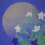 0104 Kakejiku with Mid-Autumn Moon Painting / Tomo Katou 004