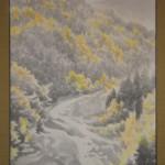 0115 Autumn Scenery of Chichibu Mountains Painting / Keiji Yamazaki 004