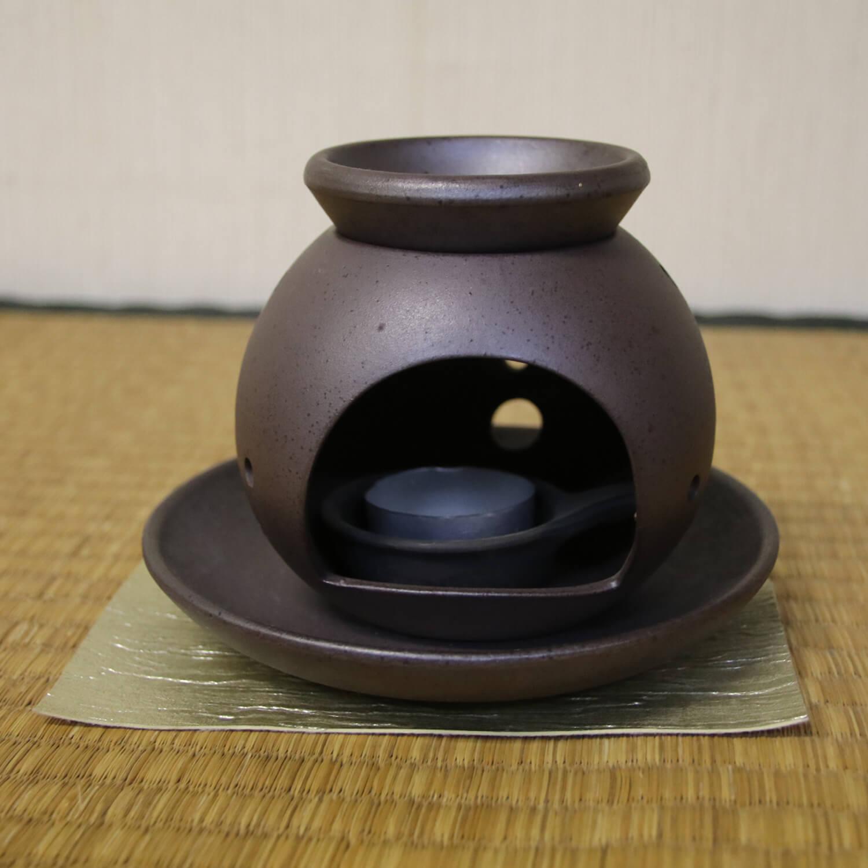 香炉: 茶香炉丸型(黒)