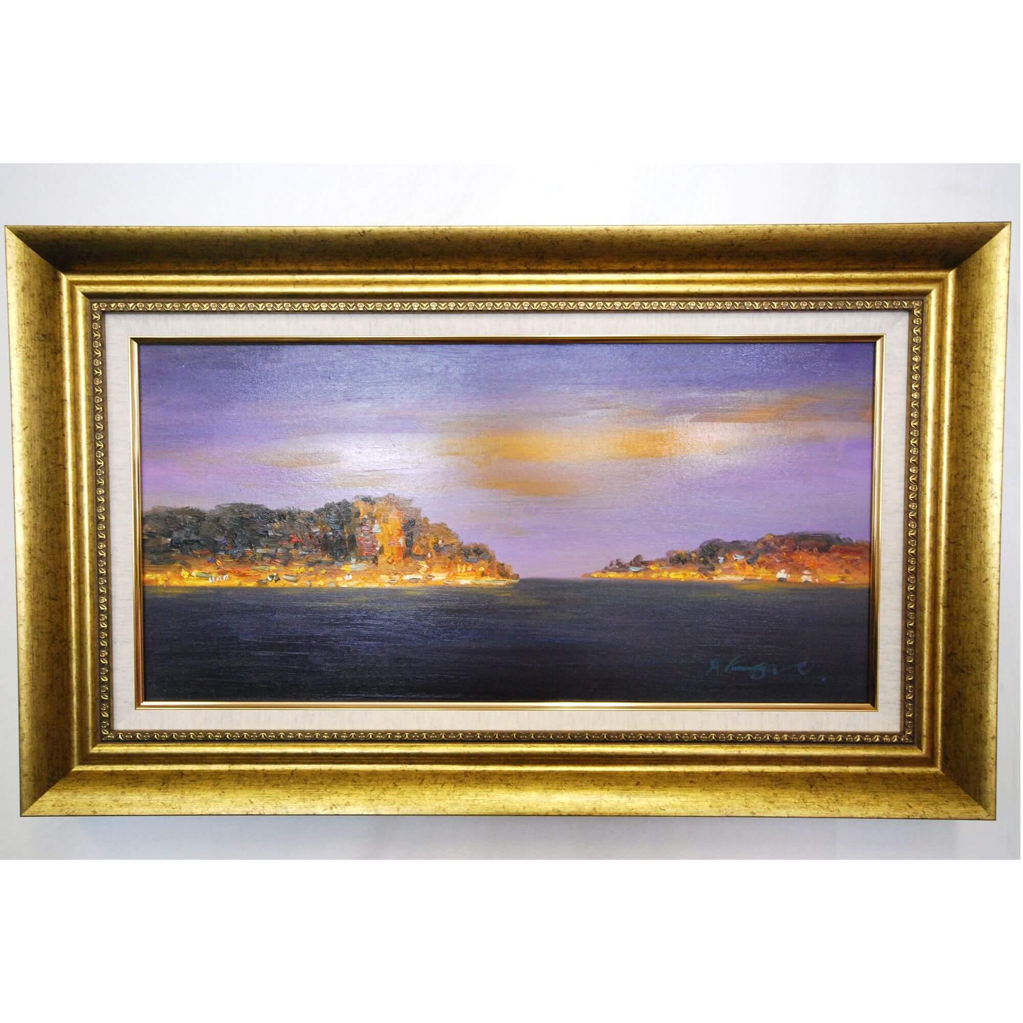 絵画: 油絵 | 熊谷敦 | アドリアの黄昏 (アドリア海) | 660x350