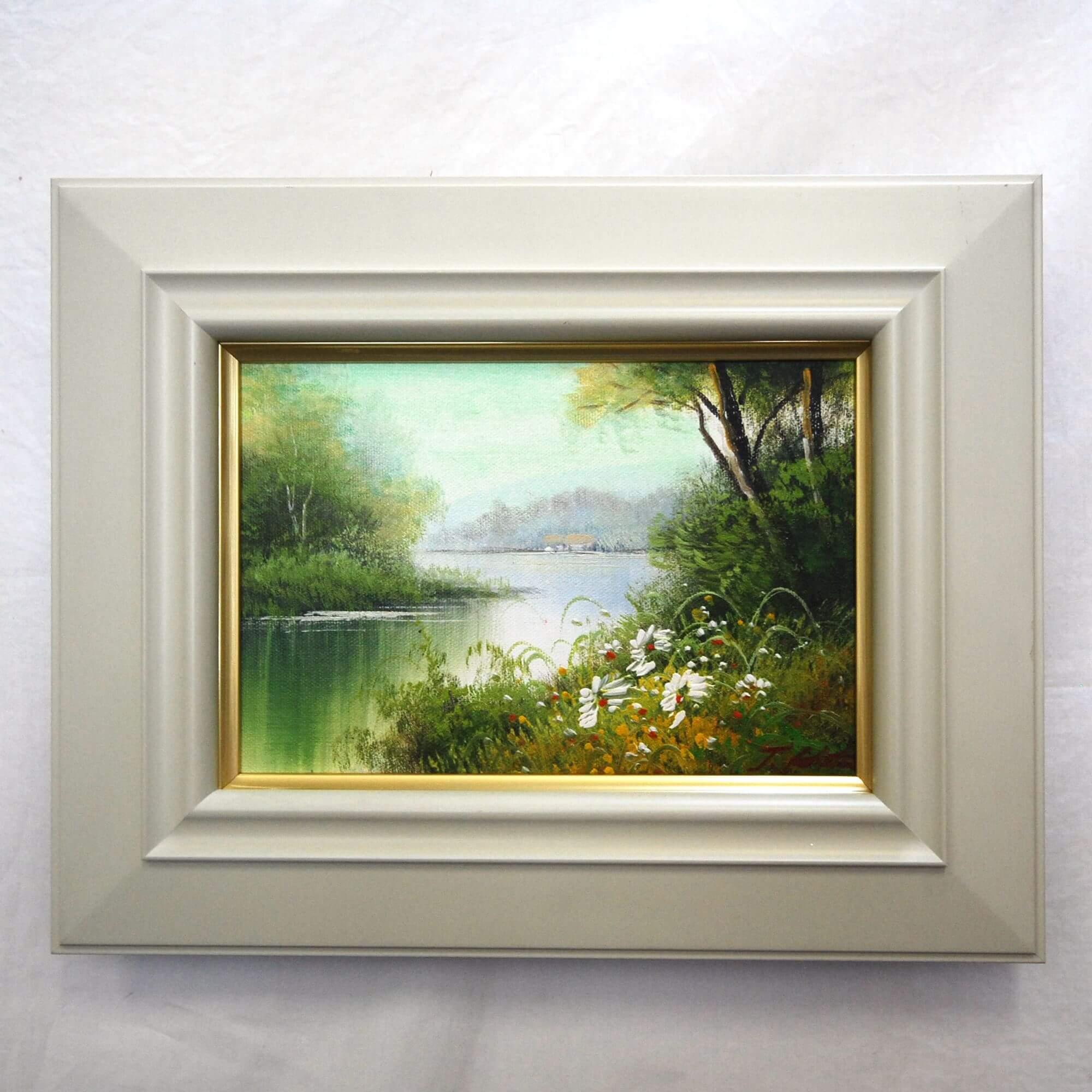 絵画: 油絵 | 倉田敏之 | 湖畔 | SM