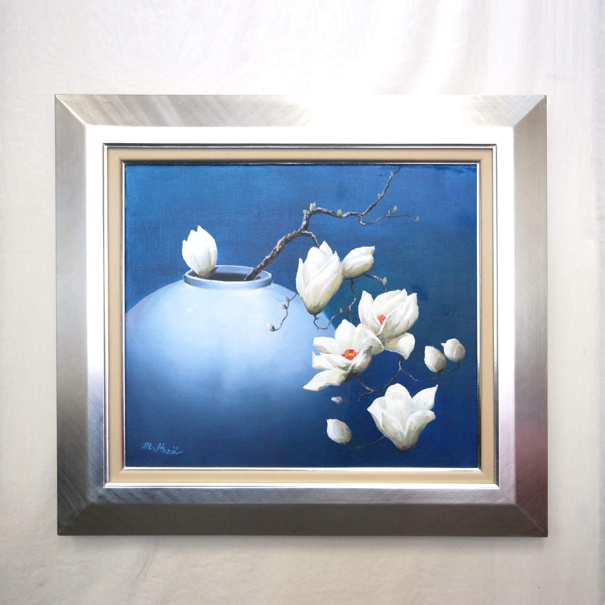 絵画: 油絵 | 堀井雅之 | もくれん | F10